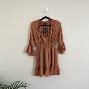 *NEW Forever 21 Bohemian Ruffle Woven Mini Dress